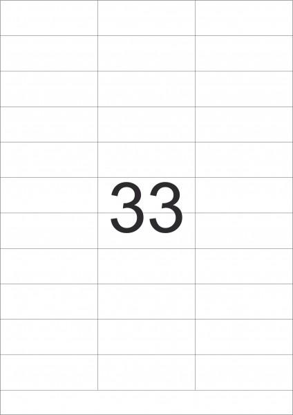 eza-print - A4, SA7178 , weiß - 70,0 x 25,4 mm, 100 Blatt