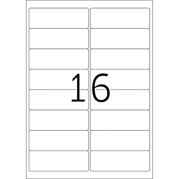 HERMA Etiketten, A4 - 99,1 x 33,8 mm, 25 Blatt, weiß
