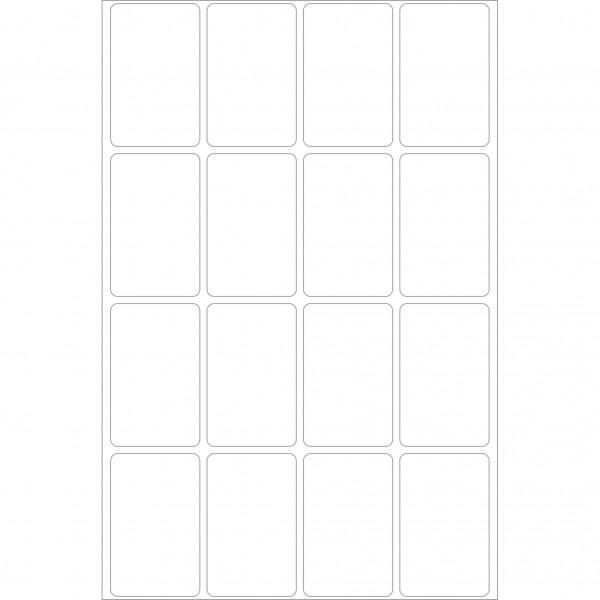 Herma Büropackung, weiß / farbig, 25 x 40 mm, permanent haftend