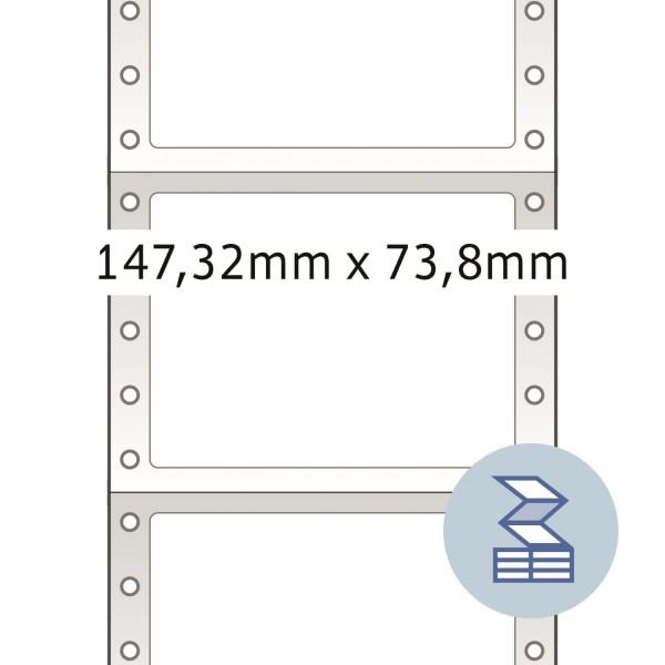 HERMA Lochrandetiketten, 147,32 x 73,80 mm, weiß