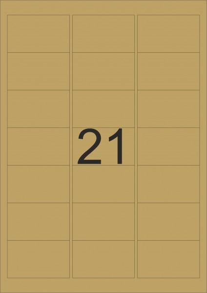 HERMA Etiketten, A4 - 63,5 x 38,1 mm, gold, Polyesterfolie glänzend