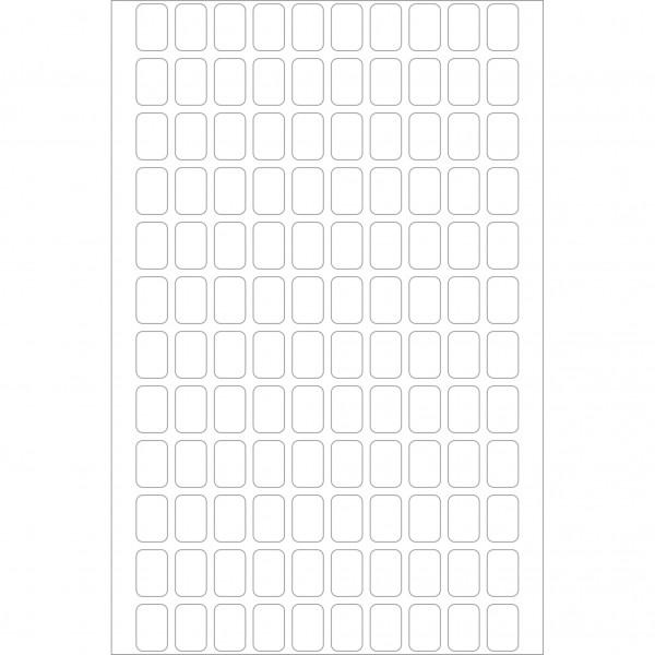 Herma Büropackung, weiß, 8 x 12 mm, permanent haftend