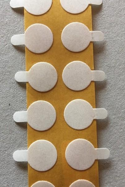 Doppelklebepunkte, 10 mm mit Anfasslasche