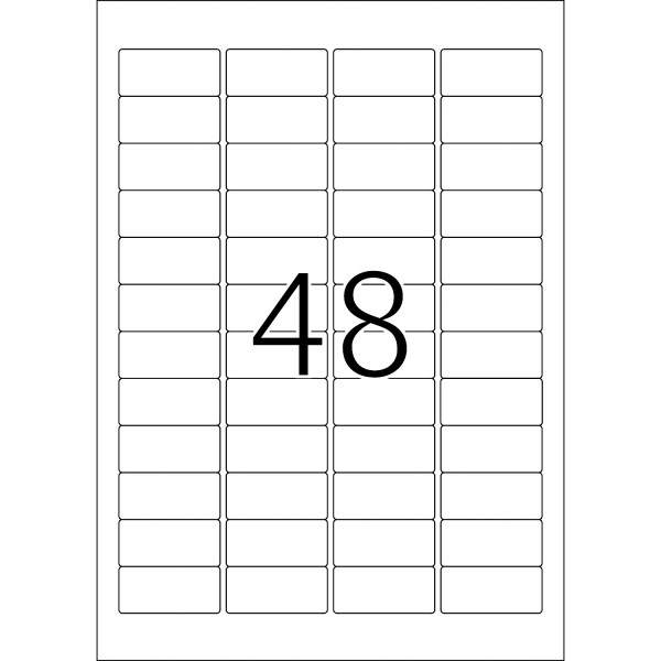 HERMA Special Inkjet, A4 - 45,7 x 21,2 mm, weiß