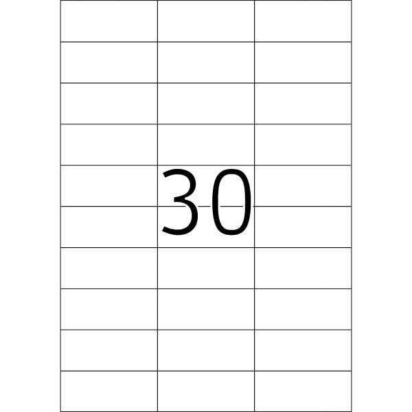 HERMA Etiketten, A4 - 70,0 x 29,7 mm, 100 Blatt, weiß