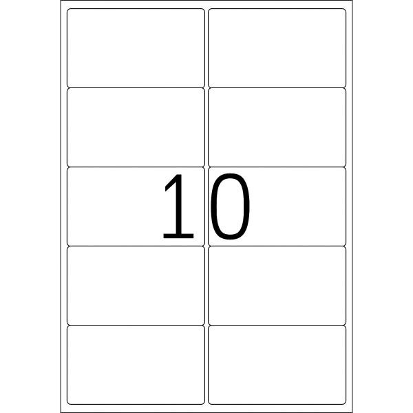HERMA Etiketten, A4 - 99,1 x 57,0 mm, 100 Blatt, weiß, Movables ®, ablösbar