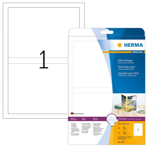 HERMA Special CD-Einleger, 279 x 183 mm