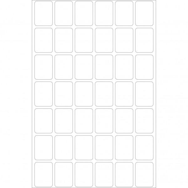 Herma Büropackung, weiß / farbig, 16 x 22 mm, 32 Blatt