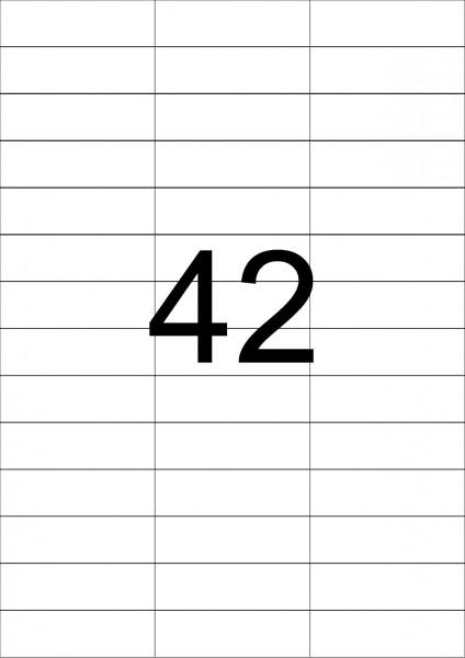 eza-print - A4, weiß - 70,0 x 21,2 mm, 500 Blatt