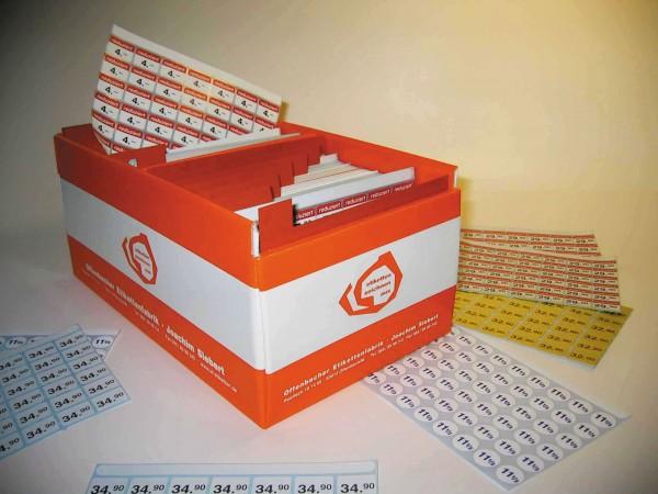 Etiketten-Box mit 42-teiligem Register