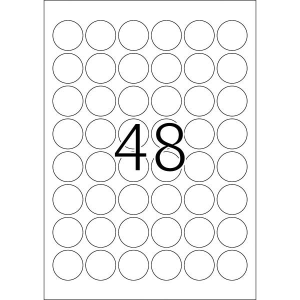 HERMA Etikett, A4 - Ø 30 mm, Folie, wetterfeste Folie, extrem stark haftend und ablösbar