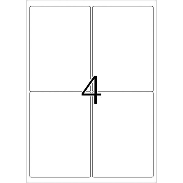 HERMA Etiketten, A4 - 99,1 x 139,0 mm, 100 Blatt, weiß