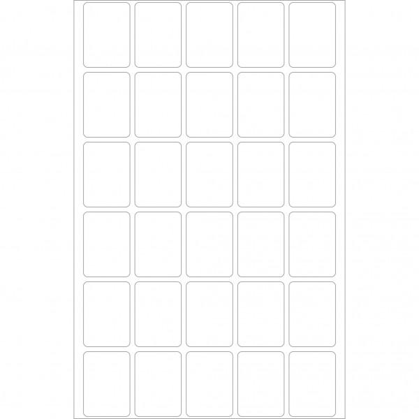 Herma Büropackung, weiß, 19 x 27 mm, permanent haftend