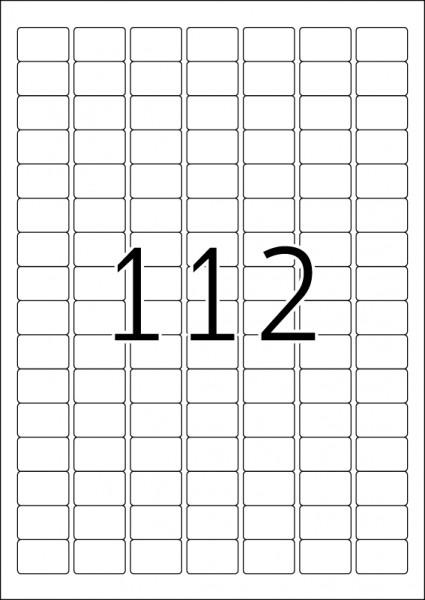 HERMA Etiketten, A4 - 25,4 x 16,9 mm, 25 Blatt, weiß