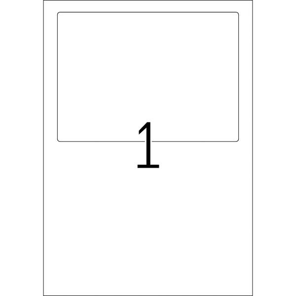 HERMA Etiketten, A4 - 182,0 x 130,0 mm, 25 Blatt, weiß, Versandetikett + Einlieferungsbeleg