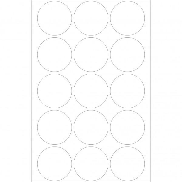 Herma Büropackung, Verschlussetikett, transparent matt, 32 mm Ø, permanent haftend