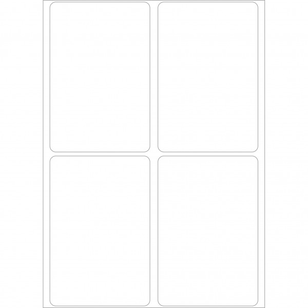 Herma Büropackung, weiß, 50 x 75 mm, permanent haftend
