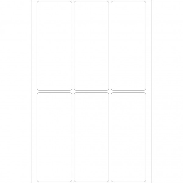 Herma Büropackung, weiß, 32 x 82 mm, permanent haftend