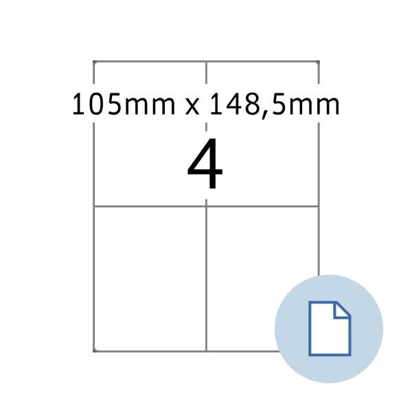 Data-Print, Etiketten, A4 - 105 x 148,5 mm, PE-Folie weiss