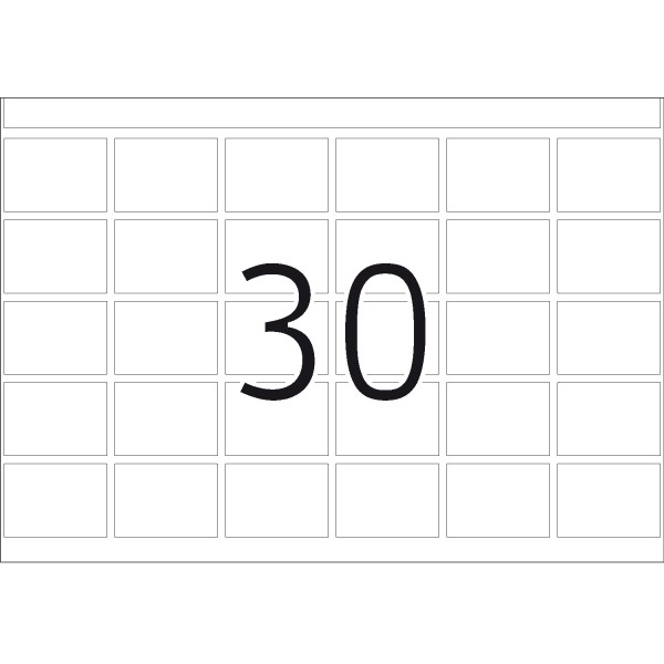 DP 1 Druckerpackung, weiß, 19 x 27 mm
