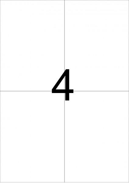eza-print - A4, weiß - 105,0 x 148,5 mm, 100 Blatt