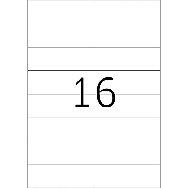HERMA Etiketten, A4 - 105,0 x 37,0 mm, 100 Blatt, weiß