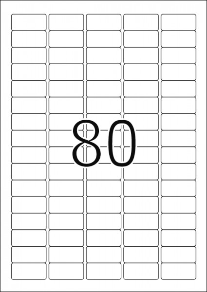 HERMA Etiketten, A4 - 35,6 x 16,9 mm, 25 Blatt, weiß