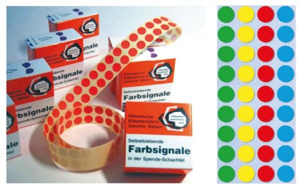 Farbsignale (Farbpunkte), Ø 8 mm, verschiedene Farben