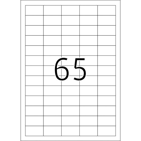 HERMA Etiketten, A4 - 38,1 x 21,2 mm, 10 Blatt, weiß