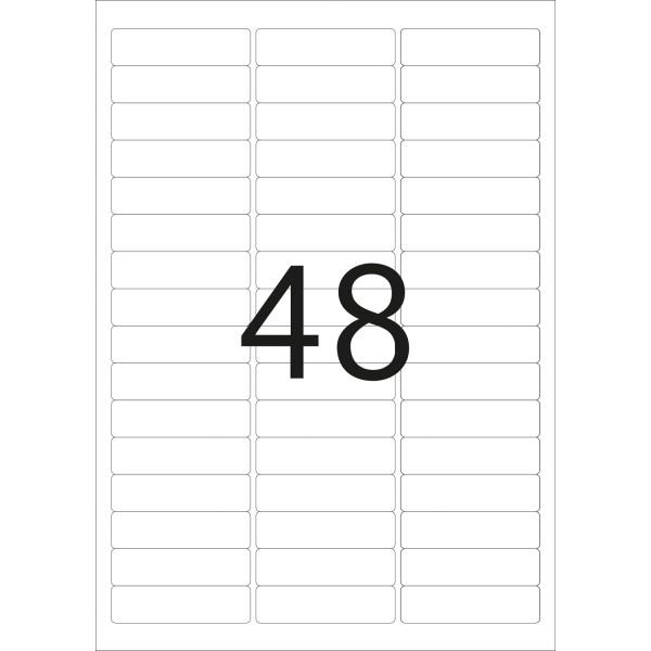 HERMA Etiketten, A4 - 63,5 x 16,9 mm, 25 Blatt, weiß, Movables ®, ablösbar