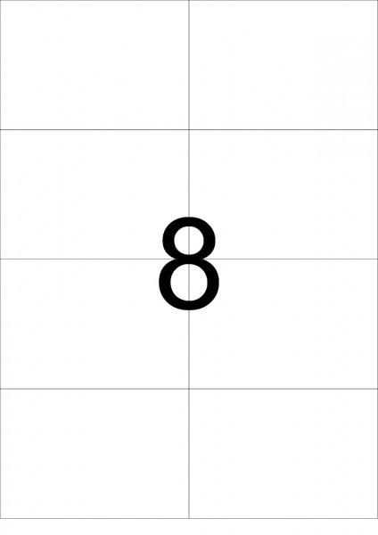 eza-print - A4,weiß - 105,0 x 74,25 mm, 500 Blatt