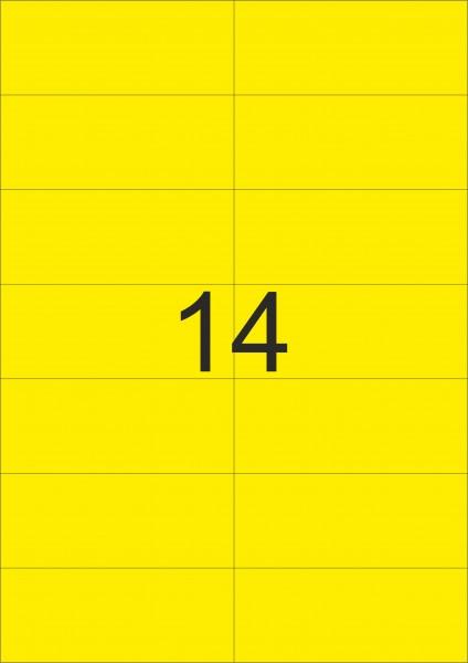 HERMA Etiketten, A4 - 105,0 x 42,3 mm, 20 Blatt, farbig