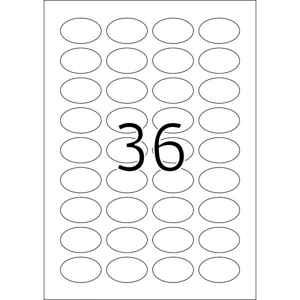 HERMA Etiketten, A4 - 40,6 x 25,4 mm, 25 Blatt, oval, weiß, Movables ®, ablösbar