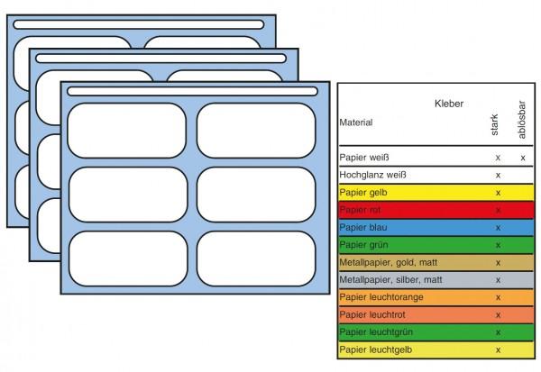 XXL-Packung HERMA,versch. Farben, 12 x 18 mm