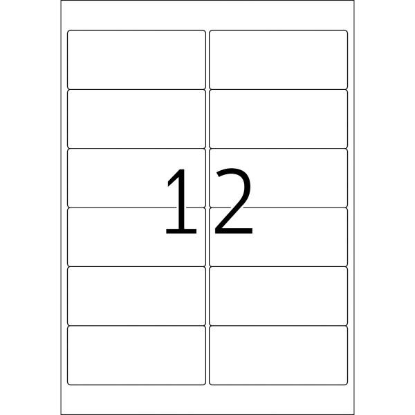 HERMA Etiketten, A4 - 99,1 x 42,3 mm, 100 Blatt, weiß, Movables ®, ablösbar