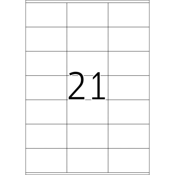 HERMA Etiketten, A4 - 70,0 x 42,0 mm, 500 Blatt, weiß