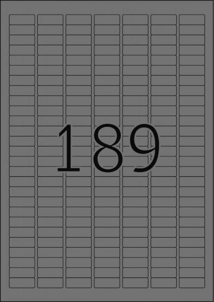 HERMA Etiketten, A4 - 25,4 x 10,0 mm, Polyesterfolie silber matt