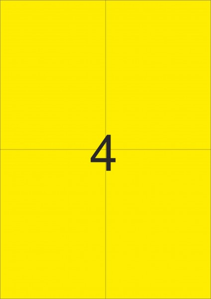 HERMA Etiketten, A4 - 105,0 x 148,0 mm, 20 Blatt, farbig