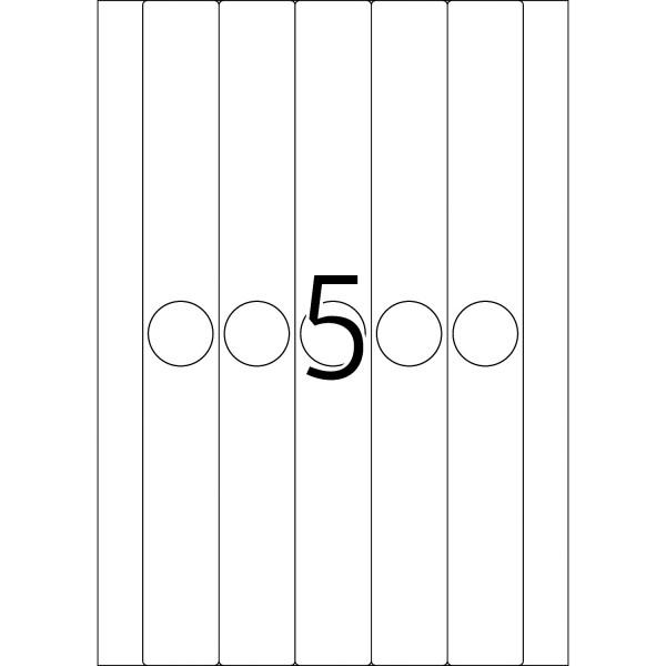 HERMA Etiketten, A4 - 34,0 x 297,0 mm, lange Hängeordneretiketten, schmal, weiß