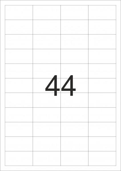 HERMA Etiketten, A4 - 48,3 x 25,4 mm, 100 Blatt, weiß