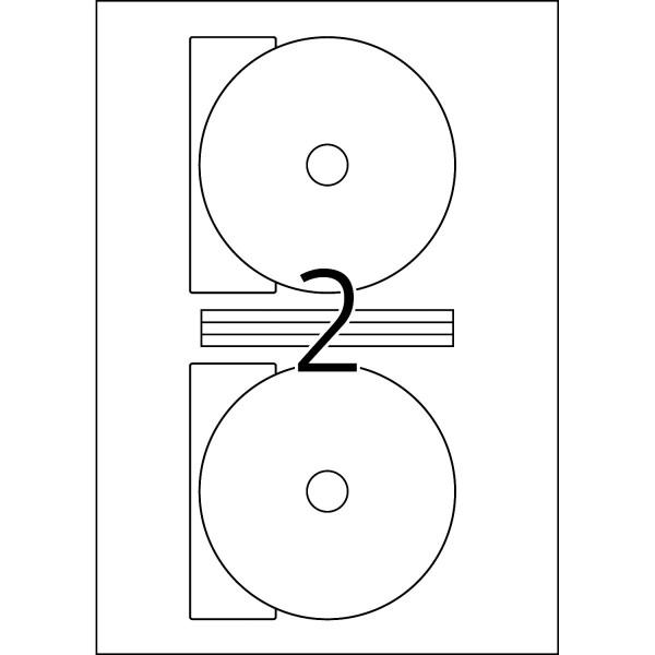 HERMA Special Inkjet, A4 - Ø 116 mm Maxi, weiß, CD/DVD-Etiketten
