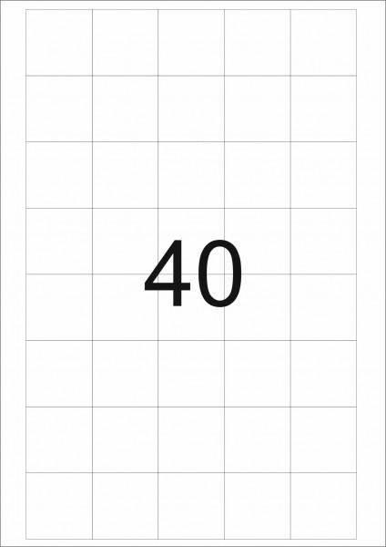 eza-print - A4, weiß - 36,0 x 36,0 mm, 500 Blatt