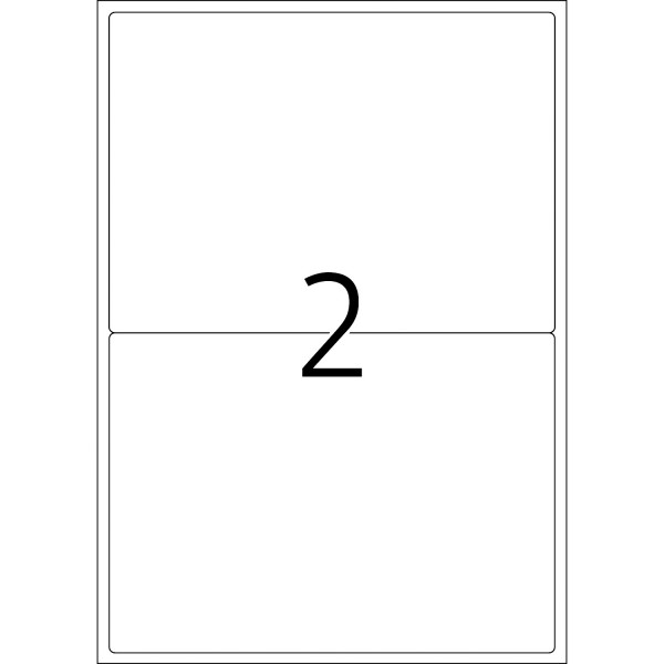 HERMA Etiketten, A4 - 199,6 x 143,5 mm, 25 Blatt, weiß, Movables ®, ablösbar