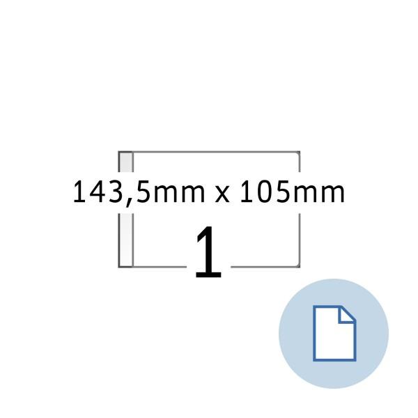 Data-Print, Etiketten, A4 weiss, 143,5 x 105, DIN A6