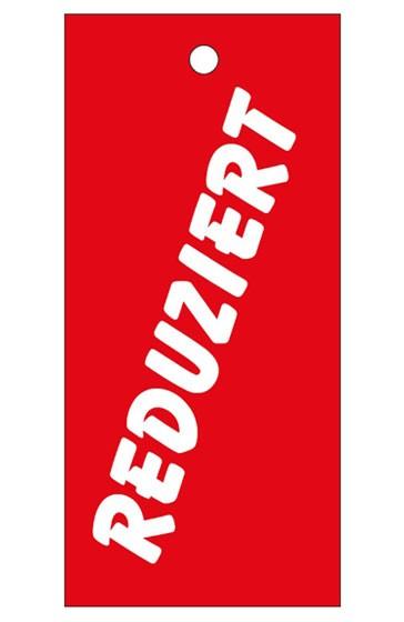 """Anhänge-Etikett, """"Reduziert"""", 28 x 60 mm, rot"""