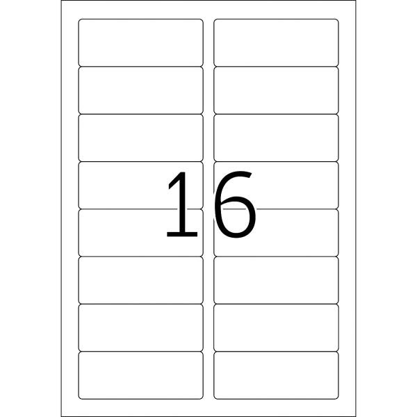 HERMA Etiketten, A4 - 88,9 x 33,8 mm, 25 Blatt, weiß, Movables ®, ablösbar