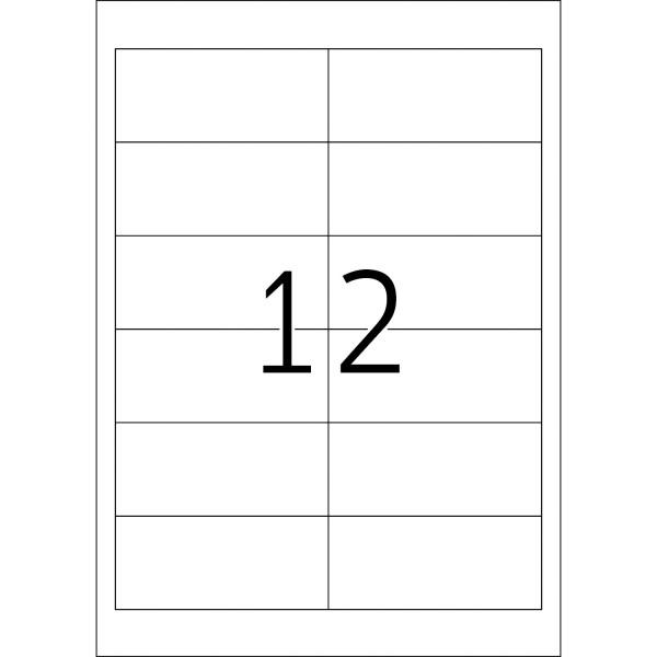 HERMA Etiketten, A4 - 97,0 x 42,3 mm, Polyesterfolie transparent matt