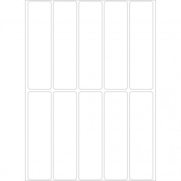 Herma Büropackung, weiß & farbig, 20 x 75 mm, permanent haftend