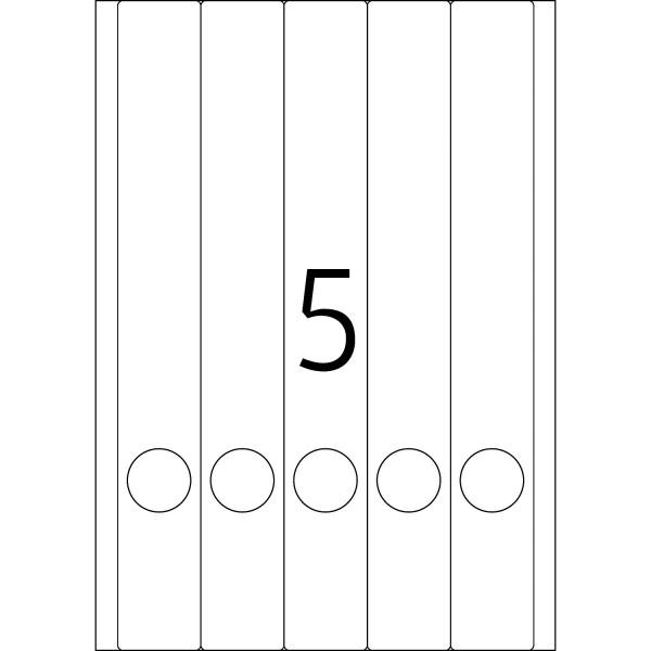 HERMA Etiketten, A4 - 38,0 x 297,0 mm, lange Ordnerrücken, schmal, farbig