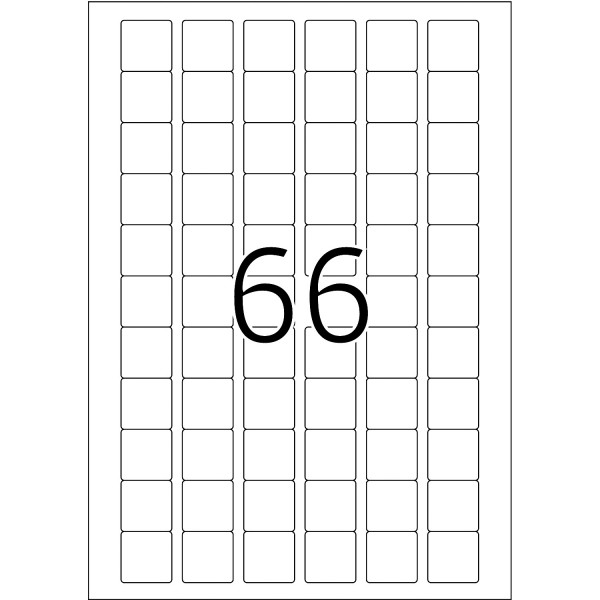HERMA Etiketten, A4 - 25,4 x 25,4 mm, 25 Blatt, weiß, Movables ®, ablösbar